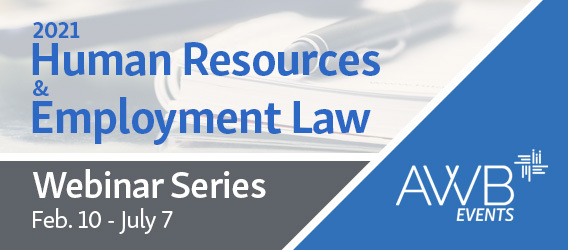 2021 Human Resources & Employment Law Webinar series by AWB Events logo