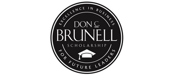 logo for Don C. Brunell scholarship with the motto Excellence in business for future leaders