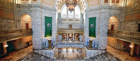 picture of the Washington legislative building rotunda